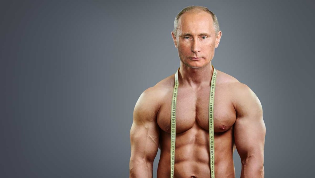 Seriously ripped Vladimir Putin denies Russian athletes