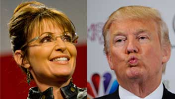 Palin endorses Trump for the simpleton vote