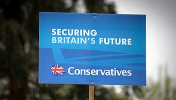 Tory election banner