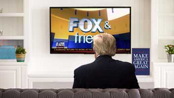Trump watching Fox & Friends