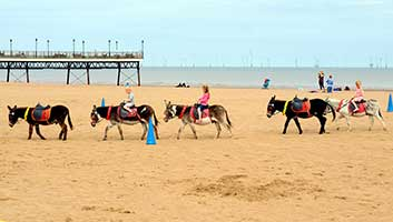 banks at skegness beach