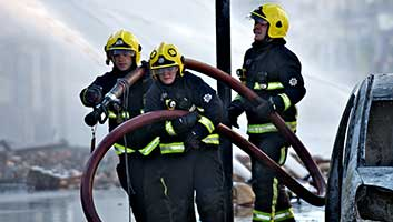 British firefighters
