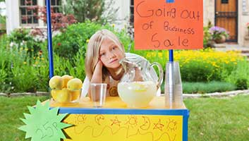 lemonade stand going out of business