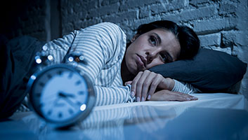 Woman suffering with insomnia recommended Walking Dead
