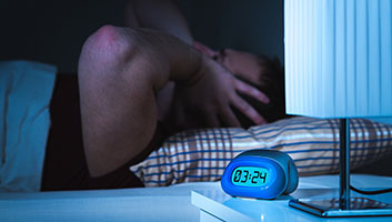 man can't sleep due to neighbour's car alarm