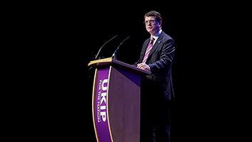 Gerard Batten on whale in the thames